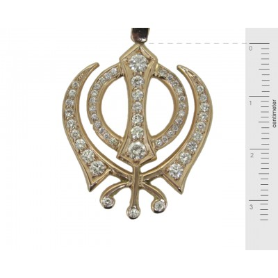 Khanda Pendant in Gold