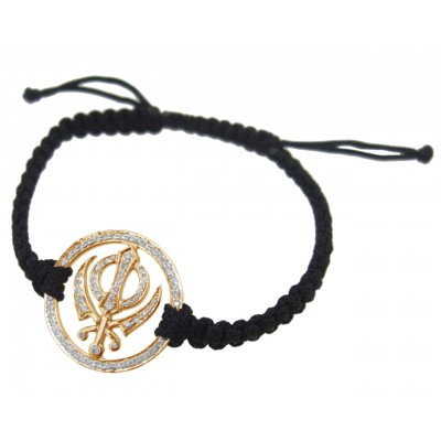 Khanda Gold Diamond Bracelet
