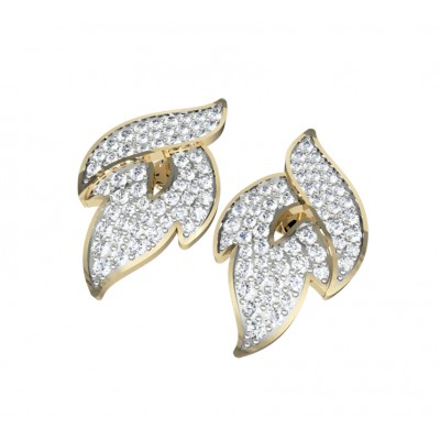 Contemporary Diamond ear studs