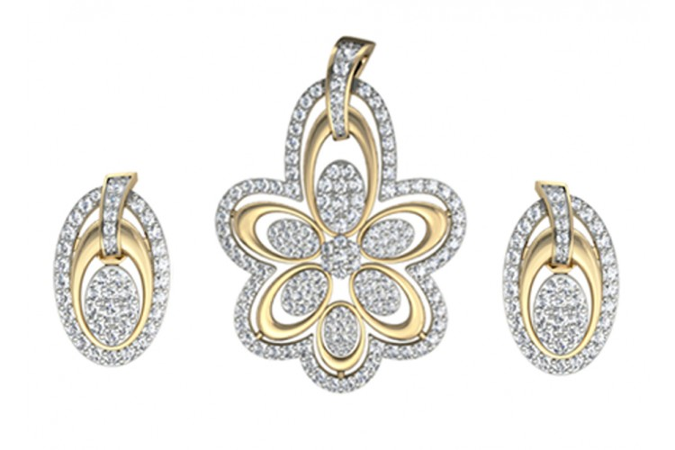 Gorgeous Diamond Pendant set