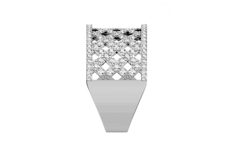 Latticework Diamond Band