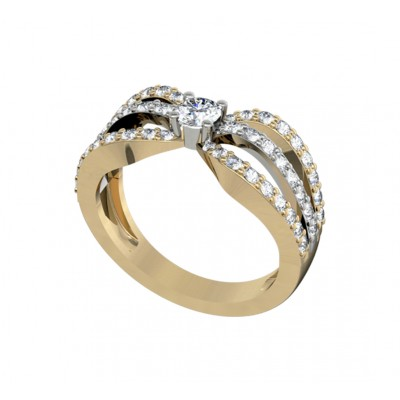 Solitaire diamond bridal ring