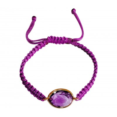 Amethyst Bracelet in Gold