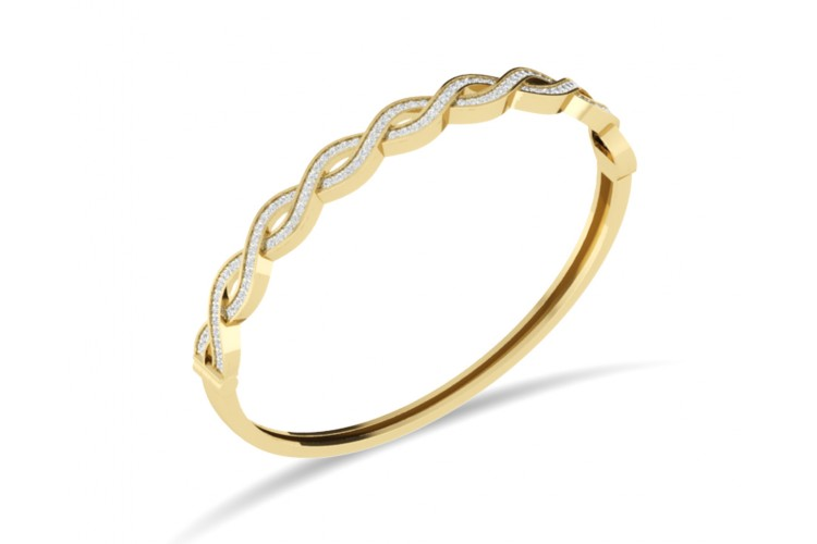 Isha Gold Diamond Bangle