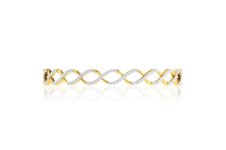 Heli Diamond Bangles in Gold