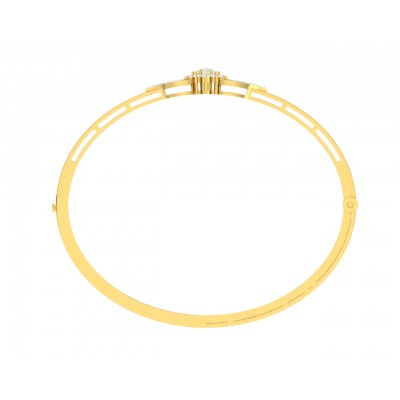 Doris Diamond Half Bangle in Gold