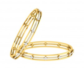 Tayte Diamond Bangles in Gold
