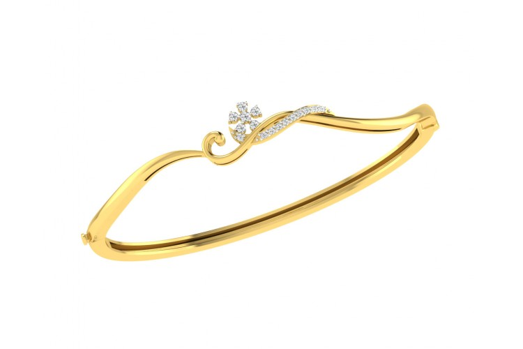 Darla Diamond Half Bangle