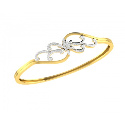Danya Round Brilliant Diamond Half Bangle