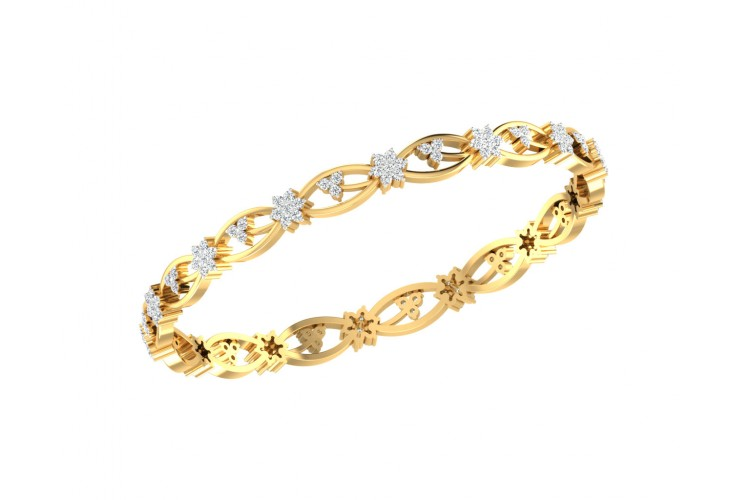 Dalia Round Brilliant Diamond Bangles