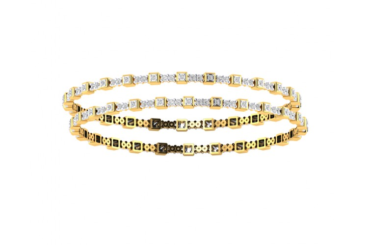 Riya Diamond bangles in Gold
