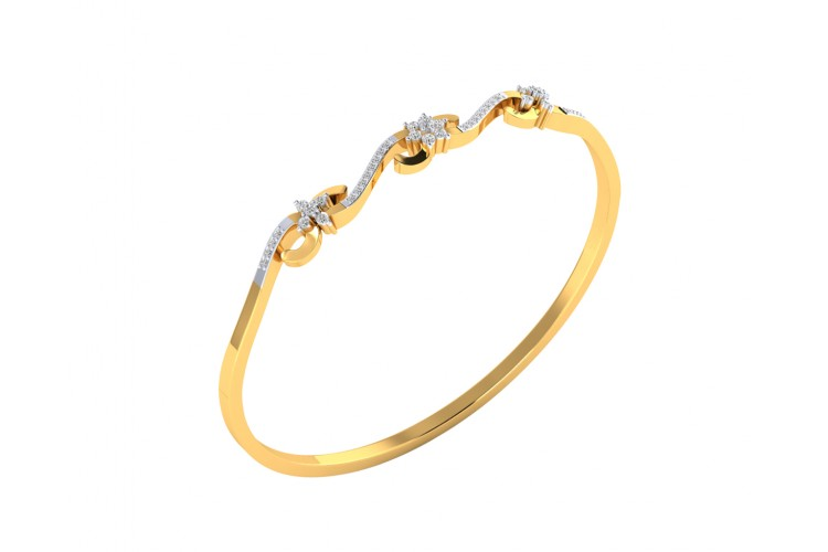 Wynn Diamond Bangle In hallmarked Gold
