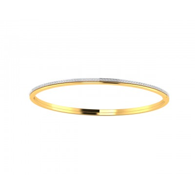 Vana Single row diamond bangle in gold