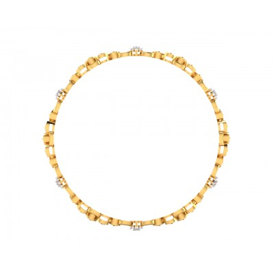 Tara Ladies Bangle in 14k Gold