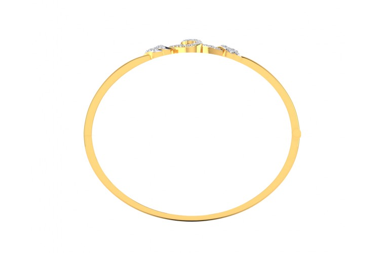 Sara Diamond Bangle For Daily wear in Gold