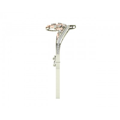 Pypa Diamond bangle in two tone rose & white gold