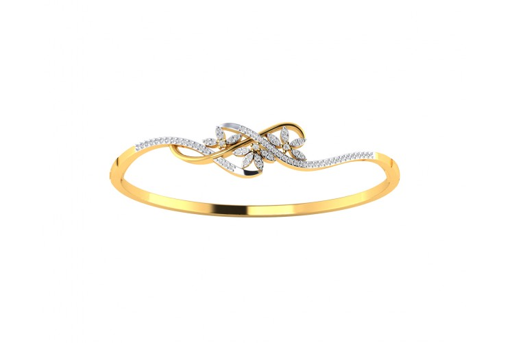 Teta Ladies Diamond Half Bangle