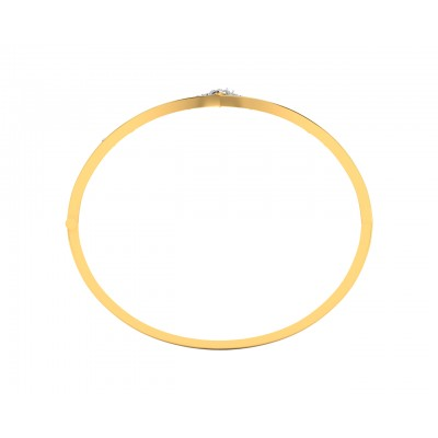 Suma Diamond Bangle in Gold
