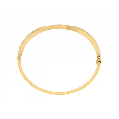 Verna diamond half bangle in 18k gold
