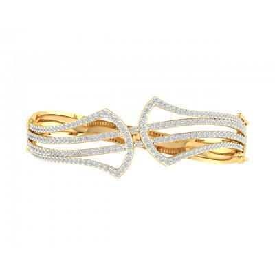 Rami Diamond half bangle