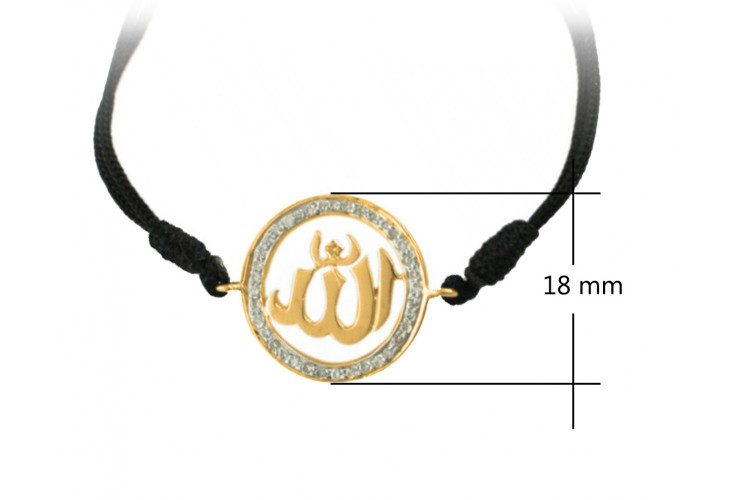 Allah Gold Bracelet with Diamonds