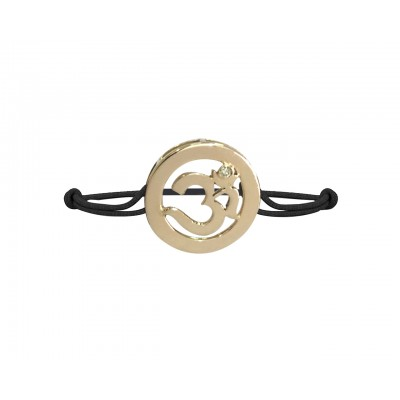 Gold Om Bracelet in a Distinguished style