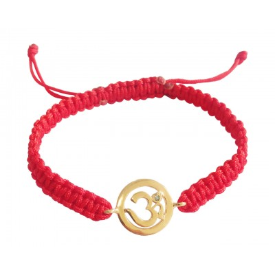 Gold Rakhi in 14k Hallmarked Gold on Adjustable Nylon Thread