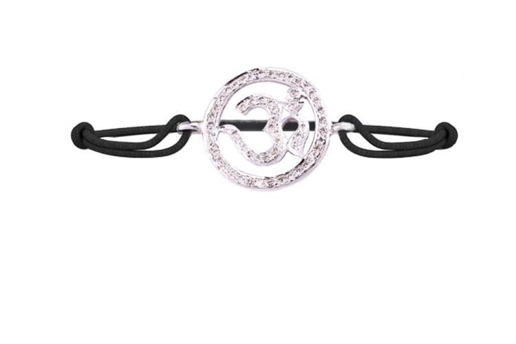 Aumkaara Om Bracelet with Diamond