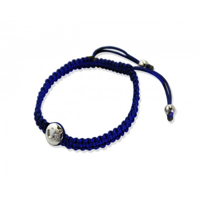 Om Bracelets in Chakra Colors with Diamond in Silver
