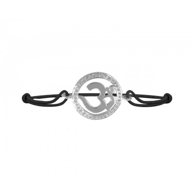 Diamond Studded Elegant Om Bracelet in 92.5 Silver