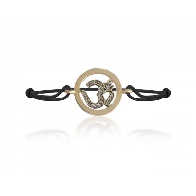Om Gold Bracelet with Diamonds