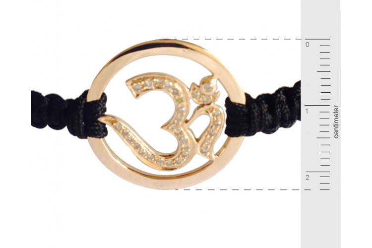 Gold Diamond Om Bracelet