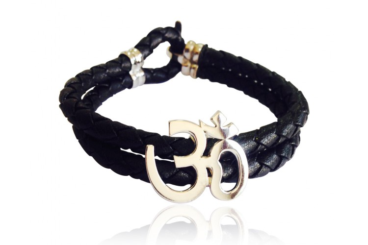 Gold Aum Bracelet for Men
