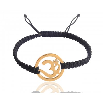 Men's Om Bracelet in Gold