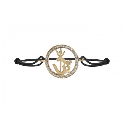 Om Shakti Gold & Diamond Bracelet