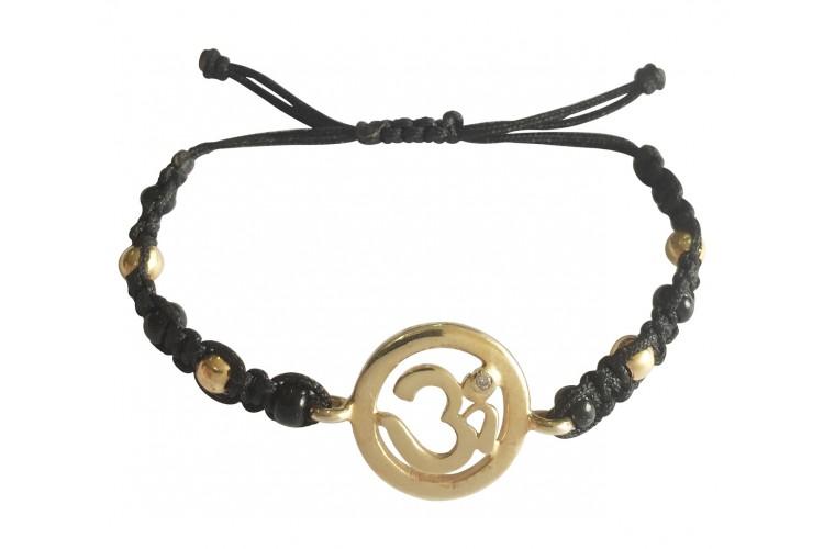 Buy New Born Baby Om Bracelet In Gold With Black Amp Gold