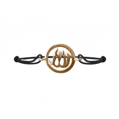 Allah Single Diamond Bracelet in Gold