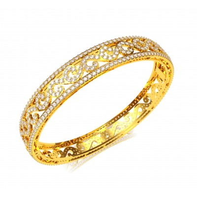 Alluring Diamond Bangle Pair