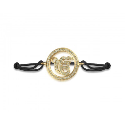 Ik Onkaar Bracelet in Gold with Diamonds