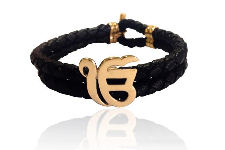 Ik Onkar Gold Bracelet for Men
