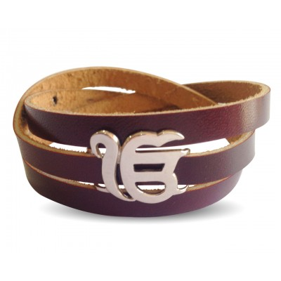 Ik Onkar On Leather Wrap