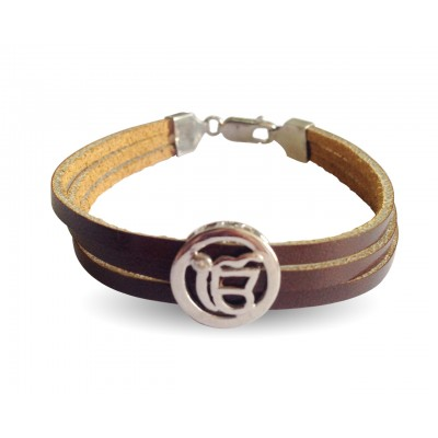 Ik Onkar Leather Bracelet