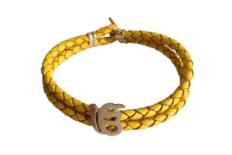 Ik Onkar Fancy Leather Bracelet