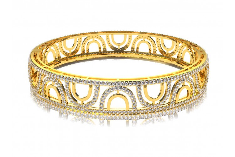 roberto bangles deal gold yellow bangle diamond amazing eternity coin shop on