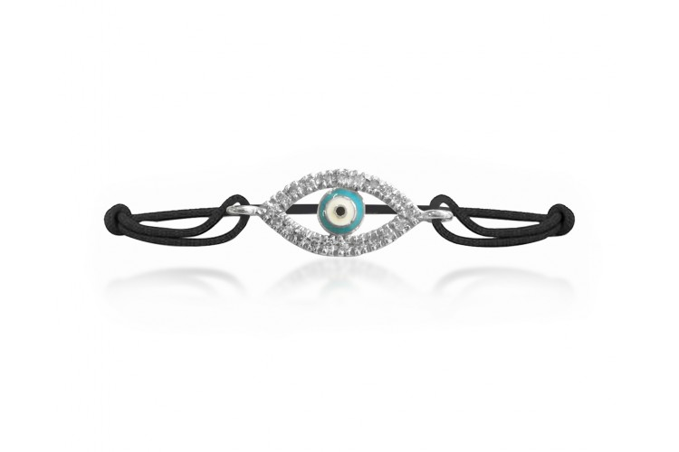 Evil Eye Enamel Diamond Bracelet