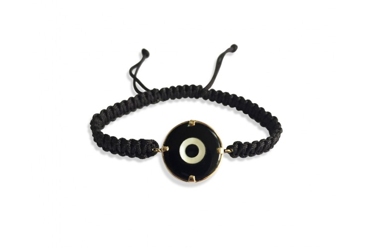 Evil eye Bracelet for Men in gold