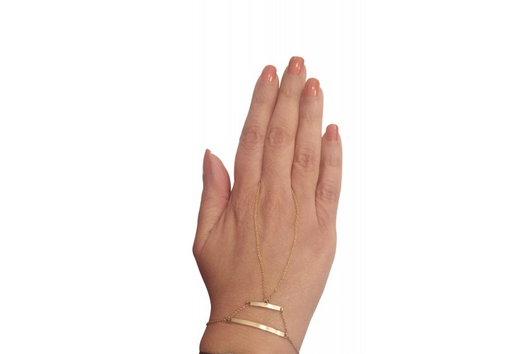 Fancy Gold Identity Bracelet for Women