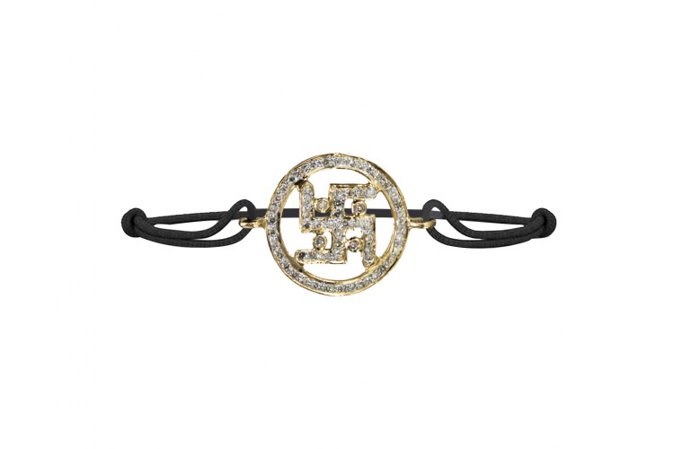 Swastika Gold & Diamond  Bracelet