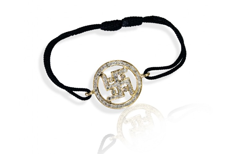 Buy Swastika Gold & Diamond Bracelet line at Best Price Jewelslane