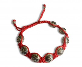 Hanuman Mantra Om Shri Hanumate namah Bracelet in sterling silver on adjustable thread